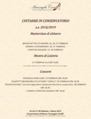 """Venerdi 1 marzo   ore 18.30 presso l'Auditorium del Conservatorio di Messina """"Arcangelo Corelli"""", il chitarrista Christian Saggese terrà un concerto ad ingresso libero."""