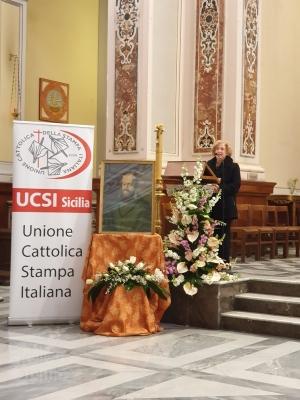 S. E. IL Prefetto di Messina Alla Messa nella giornata  di San Francesco di Sales  per l'Ucsi
