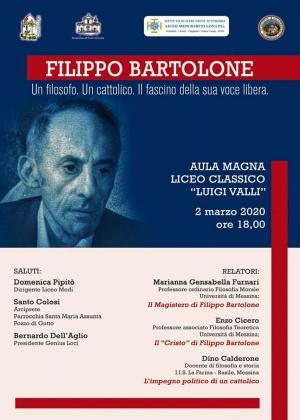 Barcellona Pozzo di Gotto: il 2 marzo un convegno sul filosofo Filippo Bartolone