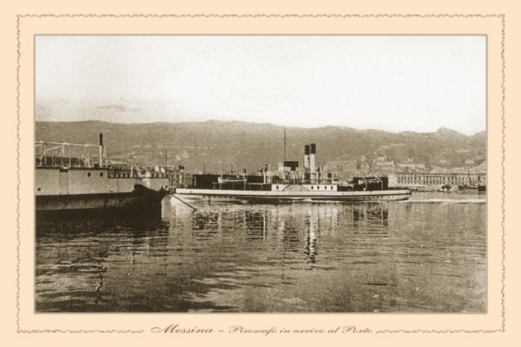 Messina - piroscafo in arrivo al porto