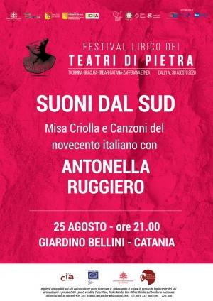 Antonella Ruggiero e il Coro lirico siciliano per una notte di magia  alla Villa Bellini
