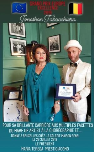 Jonathan Tabacchiera premiato a Bruxellesgrand Prix Excellence con...