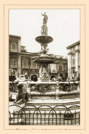Messina - scorcio della  Fontana del Montorsoli