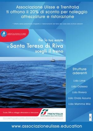 SICILIA IN TRENO, SANTA TERESA RIVA: ATTIVATA CONVEZIONE ASSOCIAZIONE ULISSE E TRENITALIA PER SCONTI SU SERVIZI AI TURISTI