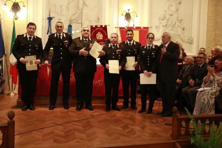 PREMIO ORIONE SPECIALE 2017 - Attestato di Benemerenza conferito ai componenti della Compagnia Carabinieri di S.Stefano Camastra (Me).